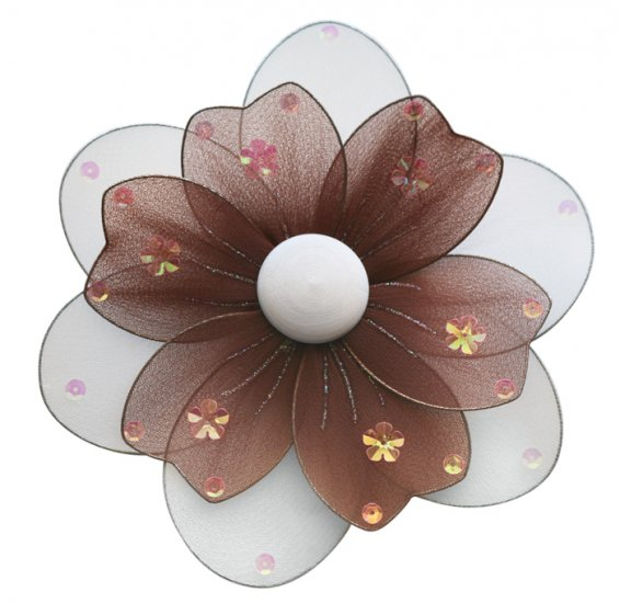 "8"""" Brown Multi Layered Daisy Flower - nylon hanging ceiling wall nursery bedroom decor decoration d"