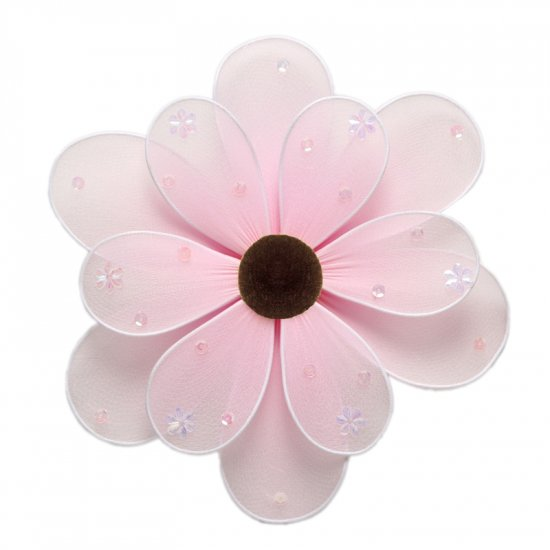 "6"""" Pink Sequined Daisy Flower - nylon hanging ceiling wall nursery bedroom decor decoration decorat"