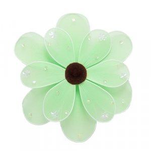"6"""" Green Sequined Daisy Flower - nylon hanging ceiling wall nursery bedroom decor decoration decora"