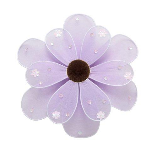 "10"""" Purple Sequined Daisy Flower - nylon hanging ceiling wall nursery bedroom decor decoration deco"