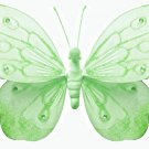 "5"""" Green Shimmer Butterfly - nylon hanging ceiling wall nursery bedroom decor decoration decoration"