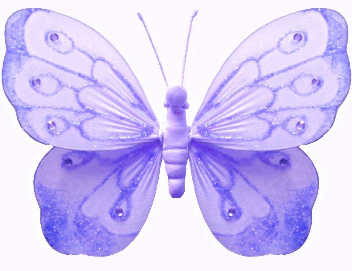 "13"""" Purple Shimmer Butterfly - nylon hanging ceiling wall nursery bedroom decor decoration decorati"