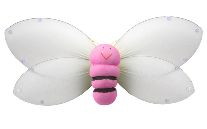 "5"""" Pink Smiling Bumble Bee - nylon hanging ceiling wall nursery bedroom decor decoration decoration"