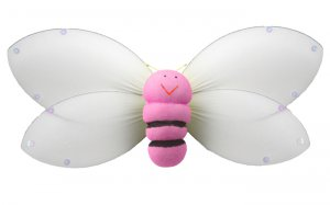 "13"""" Pink Smiling Bumble Bee - nylon hanging ceiling wall nursery bedroom decor decoration decoratio"