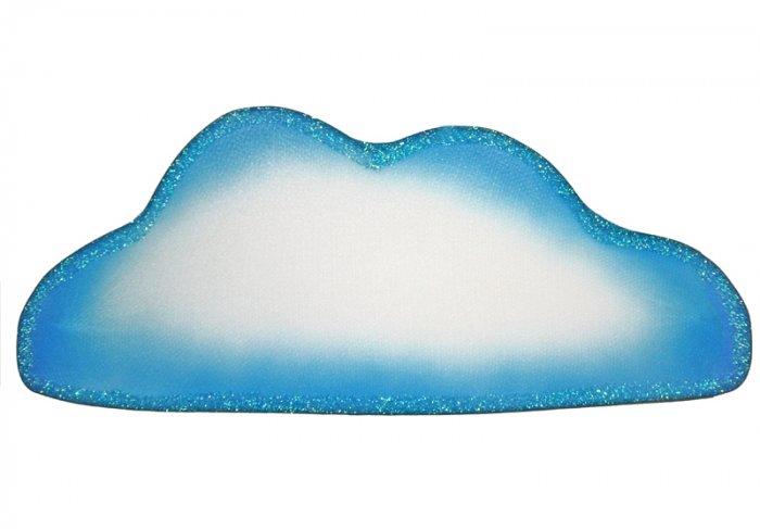 "13"""" Blue White Flat Cloud - nylon hanging ceiling wall nursery bedroom decor decoration decorations"