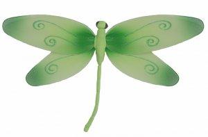 "13"""" Green Swirl Dragonfly - nylon hanging ceiling wall nursery bedroom decor decoration decorations"