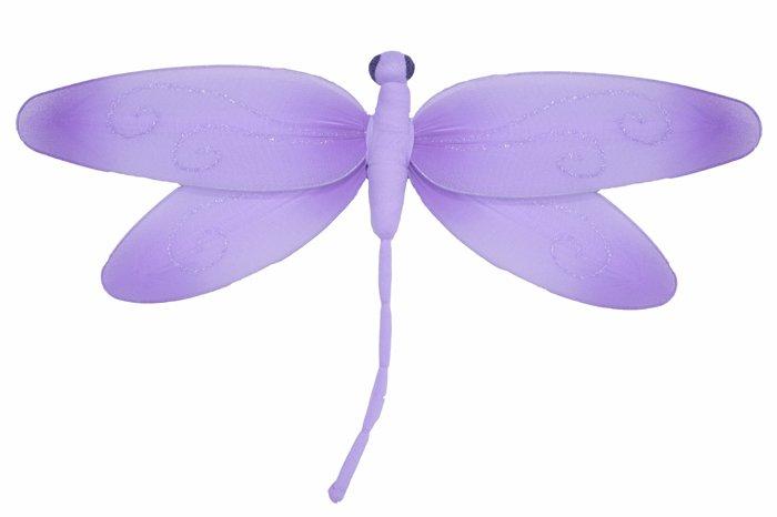 "13"""" Purple Swirl Dragonfly - nylon hanging ceiling wall nursery bedroom decor decoration decoration"