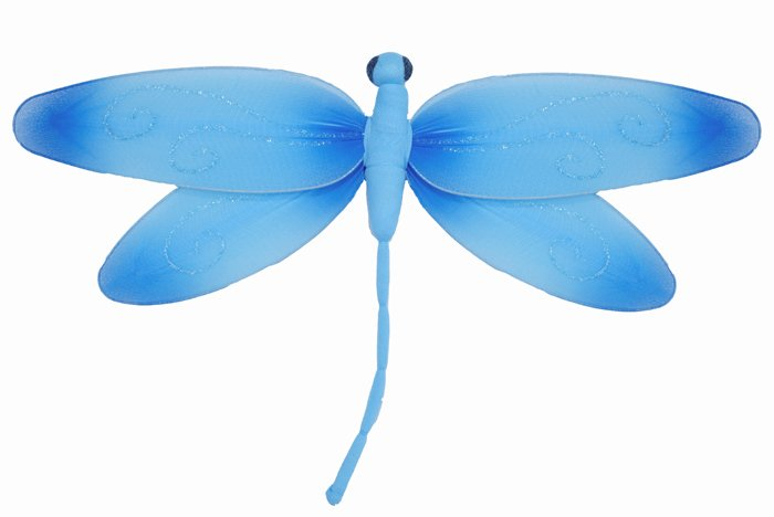 "10"""" Blue Swirl Dragonfly - nylon hanging ceiling wall nursery bedroom decor decoration decorations"