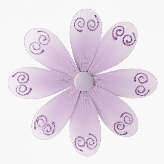 "6"""" Purple Swirl Glitter Daisy Flower - nylon hanging ceiling wall nursery bedroom decor decoration"