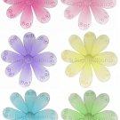 "10"""" Lot Swirl Glitter Daisy Flowers 6 piece Set Daisies Flower - nylon hanging ceiling wall nursery"