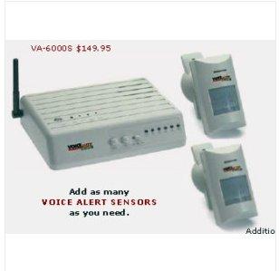 D2. Voice Alert Wireless Security Alarm Item #VA-6000S