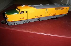 RIGHT OF WAY/AJIN  BRASS UNION PACIFIC O GAUGE PA ABA DIESEL ENGINE SET OB