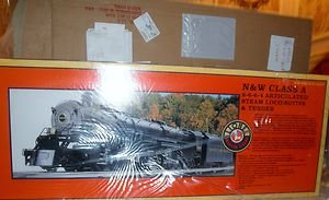 LIONEL 28052 NORFOLK AND WESTERN O GAUGE 2-6-6-4 STEAM ENGINE AND TENDER OB