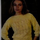 Sleeve Boat Neck Sweater Knitting Pattern French English Ladies