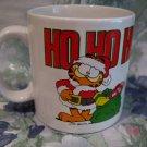 Vintage Garfield Christmas HO HO HO Souvenir Coffee Tea Cup Mug Enesco