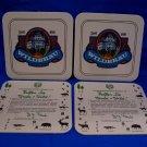 Vintage Wildbrau German Ale Beer Coasters Germany Souvenir set of 4