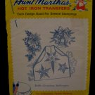 Vintage Aunt Marthas Hot Iron Transfers Christmas Bell Ringers Pattern