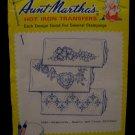 Vintage Aunt Marthas Hot Iron Transfers Shamrocks Hearts Cross Stitch Pattern