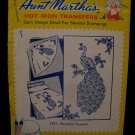 Vintage Aunt Marthas Hot Iron Transfers Majestic Peacock Bird Pattern