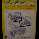 Vintage Aunt Marthas Hot Iron Transfers Bird Pattern SEALED