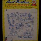Vintage Aunt Marthas Hot Iron Transfers Christmas Holiday Angels Pattern SEALED