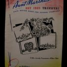 Vintage Aunt Marthas Hot Iron Transfers Victorian Lady Flowers Pattern