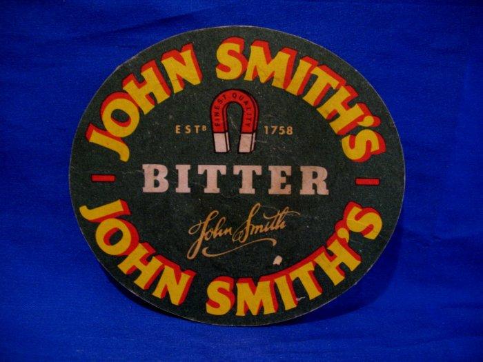 John Smith Smith's Bitter Ale Beer Coaster England UK Souvenir