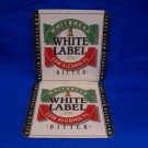 Whitbread White Label Bitter Ale Beer Coaster England UK Souvenir set of 2