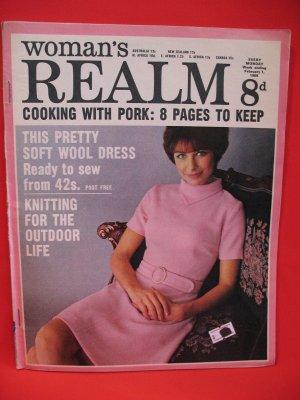 Vintage Feb. 1, 1969 Women's Realm Recipes Knitting Patterns