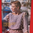 Laines Anny Blatt Knitting Elegance Patterns Spring Sweaters 1984