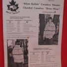 Vintage White Buffalo Canadian Sweater Knitting Pattern Adults #6