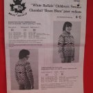 Vintage White Buffalo Canadian Sweater Knitting Pattern Children #4-C