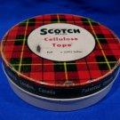 Vintage Scotch Tape Tin Brand Cellulose Tape Souvenir Collector