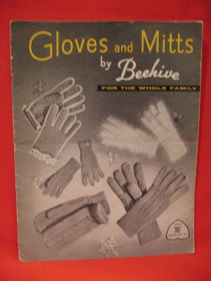 Vintage Beehive Knitting Pattern Magazine Gloves Mitts Family
