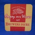 Brewers Fayre Grants of St. James's Wine UK Beer Coaster Souvenir