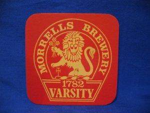 Morrells Brewery 1782 Varsity United Kingdom Beer Coaster Souvenir