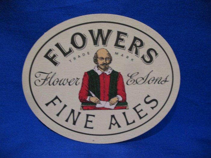 Flowers Fine Ales Flower & Sons United Kingdom Beer Coaster Souvenir