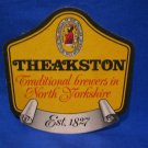 Theakston Brewers North Yorkshire United Kingdom Ale Beer Coaster Souvenir