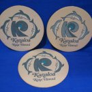Kanaloa Kona Hawaii Dolphins Beer Coaster Souvenir set of 3