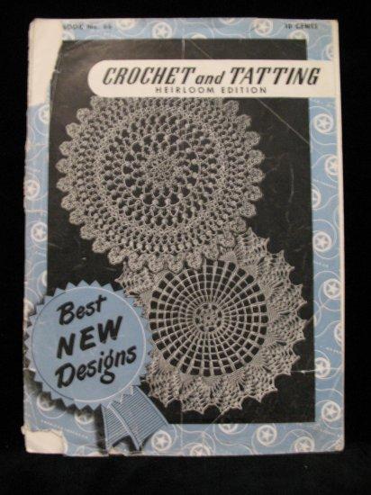 Vintage 1949 Crochet Tatting Pattern Magazine Heirloom Ed. Christian Cross Book Marks Doily Edgings