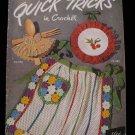 Vintage 1950 Crochet Pattern Magazine Aprons Hangers Hat Purse Bridal Garter etc