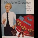Vintage 1954 Crochet Pattern Magazine Hat Collar Purse Shrug Chair Pad Covers Doily etc