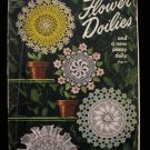 Vintage 1949 Crochet Pattern Magazine Flower Doilies Pansy Doily Hot Plate Mat Cover etc