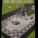 Vintage 1949 Crochet Pattern Magazine Chair Sets Table Runners