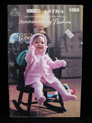 Beehive Quickerknits Knitting Patterns Layette Carriage Set etc Baby - 2 Years