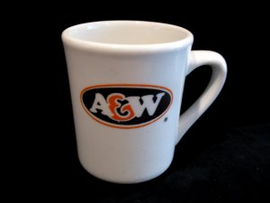 Vintage A&W RootBeer Coffee Glass Mug Cup Souvenir Collectible