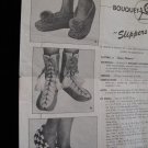 Vintage Bouquet Slippers Knitting Knit Patterns Adults