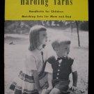 Vintage Harding Yarns Handknits Knitting Patterns Family Sweaters Jumper Dress Socks Vests
