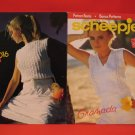 Scheepjes Panel Top and Lacy Top Buttoned Sweaters Knitting Pattern Ladies