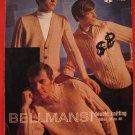Bellmans Sweater Pullover Cardigan Knitting Pattern Adults Men